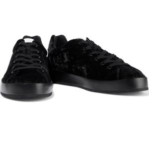 Rag & Bone RB1 Black Velvet low top sneakers New